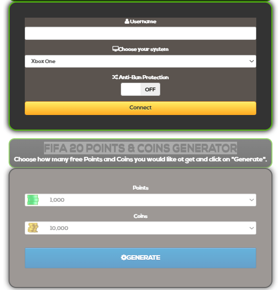FIFA 20 Points and Coins Generator