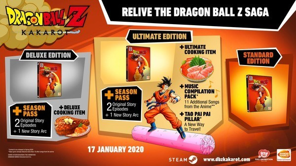 Dragon Ball Z Kakarot specifications