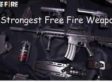 5 Strongest Free Fire Weapons