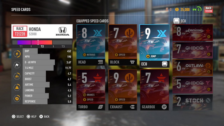 Change Speed Cards